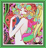 Вышивка картины «Девушка-фантазия» крестиком, R007, фото