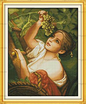 Вышивка картины «Девушка с виноградом», R356