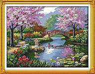 Вышивка картины «Живописный сад», F410, купить