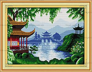 Вышивка картины крестиком «Восточный пейзаж», F179