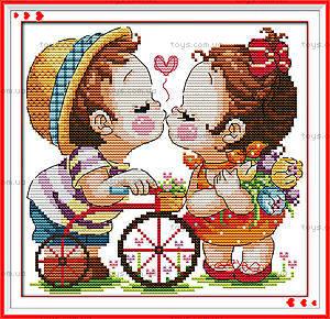Вышивка картины «Поцелуй» крестиком, K542