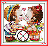 Вышивка картины «Поцелуй» крестиком, K542, купить