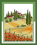 Вышивка картины «Сельские просторы», F150, отзывы
