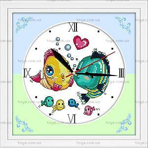 Вышивка крестиком «Часы. Поцелуй рыбок», G007
