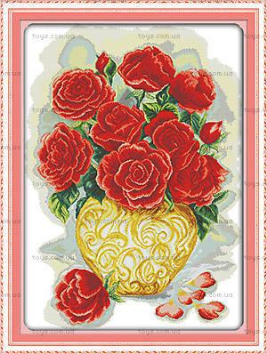 Вышивка крестиком «Букет роз», H341