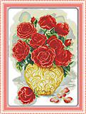 Вышивка крестиком «Букет роз», H341, отзывы