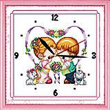 Вышивка крестиком «Часы. Детские сердца», G025, фото