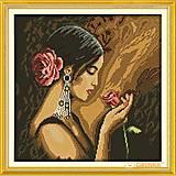 Вышивка крестиком «Девушка с розой», R339, купить