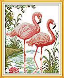 Вышивка крестиком «Фламинго», D419, фото