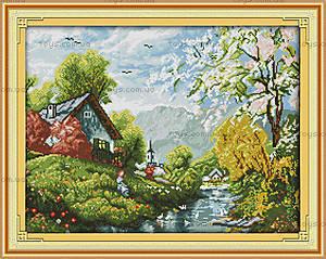 Вышивка крестиком «Живописная деревня», F384