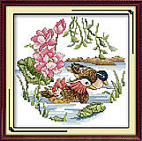 Вышивка крестиком, картина «Утки-мандаринки», D054, фото