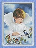 Вышивка крестиком картины «Ангел и птичка», R265(1)
