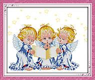 Вышивка крестиком картины «Ангелочки», R380, фото