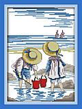 Вышивка крестиком картины «Дети на море», K209