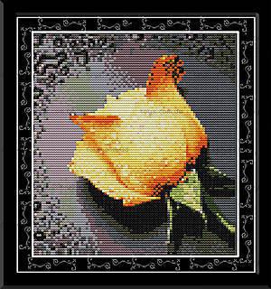 Вышивка крестиком картины «Желтая роза», H023(2)