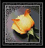 Вышивка крестиком картины «Желтая роза», H023(2), фото