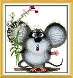Вышивка крестиком картины «Милый мышонок», D220, фото