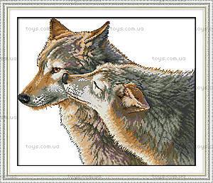 Вышивка крестиком картины «Поцелуй волка», D420