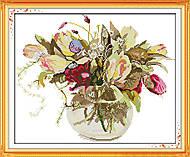 Вышивка крестиком картины «Роскошный букет», H312