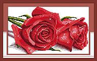 Вышивка крестиком картины «Розы», H016