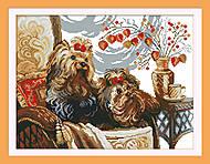 Вышивка крестиком картины «Щенки», D430