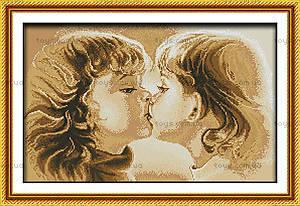 Вышивка крестиком картины «Сладкое детство», R227
