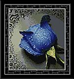 Вышивка крестиком картины «Синяя роза», H023(3), отзывы