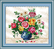 Вышивка крестиком картины «Яркие цветы», H147, отзывы