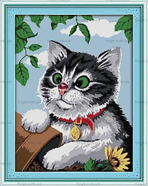 Вышивка крестиком картины «Игривый котик», D445