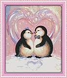 Вышивка крестиком «Любовь пингвинов», D433, фото