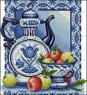 Вышивка крестиком «Натюрморт с яблоками», J045 (1)
