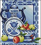 Вышивка крестиком «Натюрморт с яблоками», J045 (1), фото