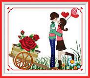 Вышивка крестиком «Первый поцелуй», R152, купить