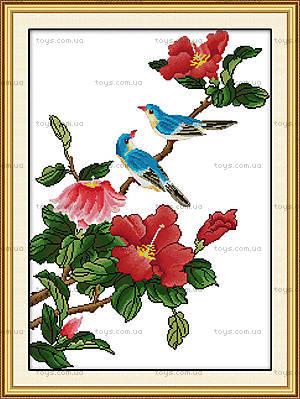 Вышивка крестиком «Птички на ветке», H009