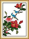 Вышивка крестиком «Птички на ветке», H009, фото
