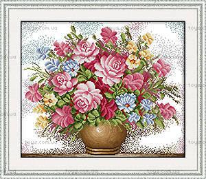 Вышивка крестиком «Розовые розы», H005