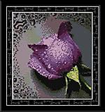 Вышивка крестиком «Сиреневая роза», H023 (4)