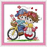 Вышивка крестиком «Вдвоём на велосипеде», K402, игрушки