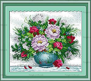 Вышивка крестиком «Яркие цветы», H158