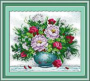 Вышивка крестиком «Яркие цветы», H158, купить