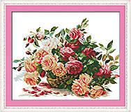 Вышивка и рукоделие «Корзинка с розами», H317, фото