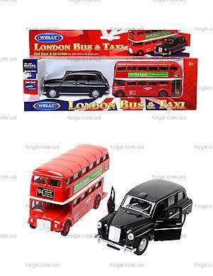 Набор машинок Welly «Лондонский автобус и такси», 99930-2G