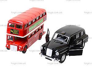 Набор машинок Welly «Лондонский автобус и такси», 99930-2G, детские игрушки