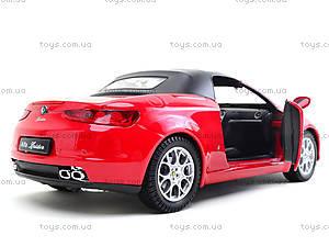 Игрушечный автомобиль  Alfa Spider, 22484H-W, детские игрушки
