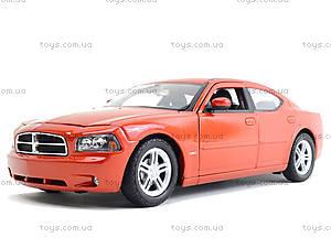 Машина Dodge Charger, 22476S-W, детские игрушки