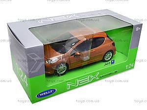 Модель автомобиля Peugeot 207, 22492W, магазин игрушек