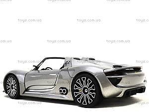 Модель машины Porsche 918 Spyder, 24031W, игрушки