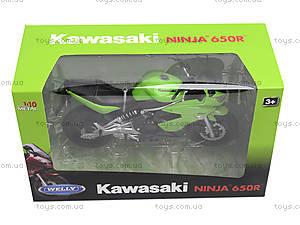 Мотоцикл KAWASAKI 2009  NINJA 650R, масштаб 1:10 , 62803W, игрушки