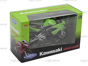 Мотоцикл KAWASAKI 2009  NINJA 650R, масштаб 1:10 , 62803W, детские игрушки