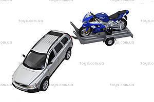 Игровой набор «Машина VOLVE XC90 и мотоцикл TRIUMPH 2002 DAYTONA 955», 39884F-2G(A), фото